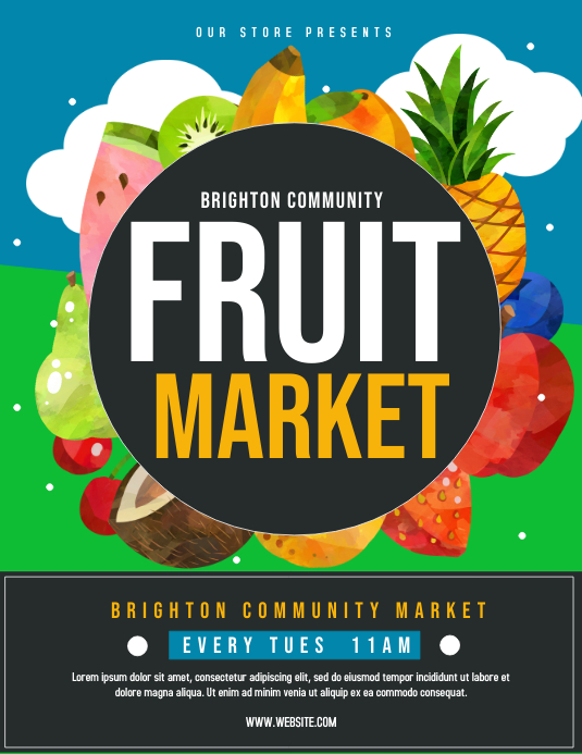 Fruit Market Folder (US Letter) template