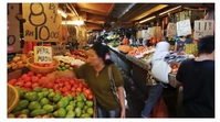 Fruit markets Foto Sampul Saluran YouTube template