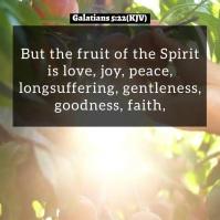 Fruit of the Spirit Video Slideshow Template Pos Instagram
