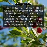 Fruit of the Spirit Video Slideshow Template Instagram Post