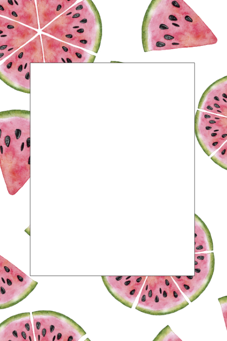 Fruit Party Prop Frame