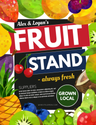 Fruit Stand Folheto (US Letter) template