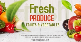 FRUITS AND VEGETABLES Facebook Shared Image template