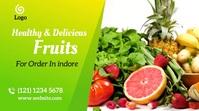 Fruits and vegetables social media post Fotografia de capa do canal do YouTube template