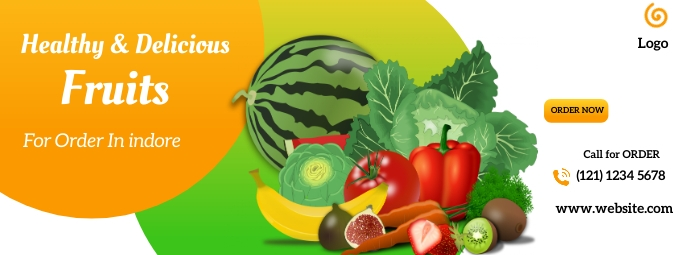 Fruits and vegetables social media post Facebook Cover Photo template