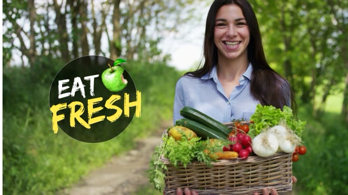 Fruits/Vegetables/Food Video Template Pantalla Digital (16:9)