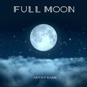 FULL MOON Mixtape/Album Cover Art Template