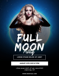 Full Moon Party Flyer Design Template