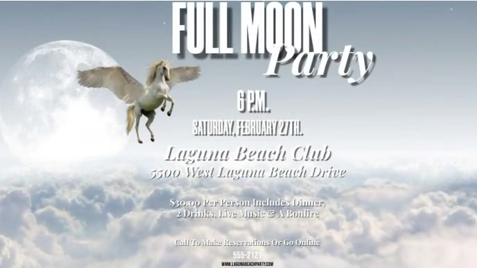 FULL MOON PARTY VERSION 2 W. OPTIONAL MUSIC Display digitale (16:9) template