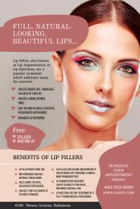 Full Natural Lips Lip Filler Poster template