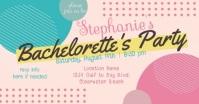 Fun Artsy Bachelorette Party Cool Invitation Facebook Event Cover template