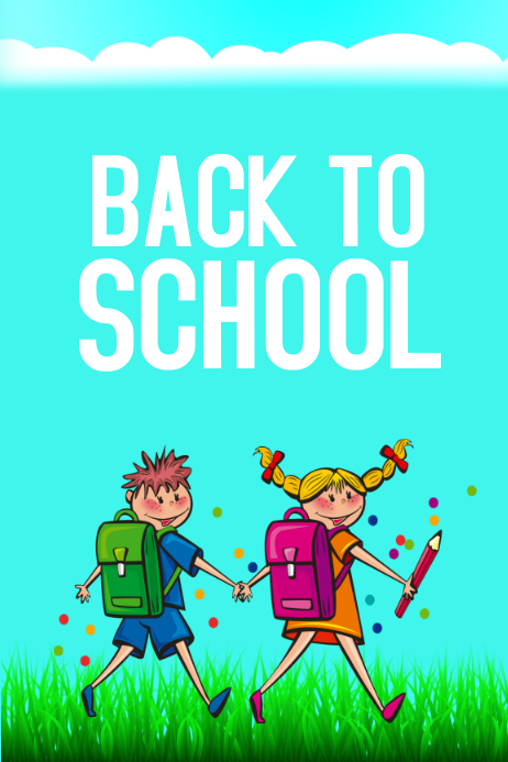 fun back to school poster template