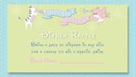 Fun Books for Baby Gender Reveal Baby Shower Business Card template