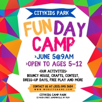 Fun Day Camp Instagram Post Wpis na Instagrama template