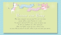 Fun Gender Reveal Baby Shower Books for Baby Business Card template