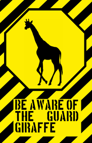 fun giraffe sign - joke
