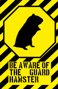 fun hamster sign - humouristic joke