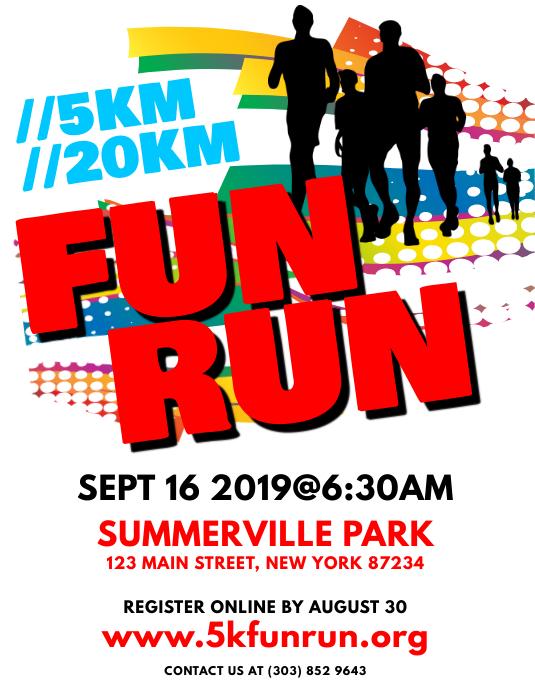 fun run flyer template postermywall