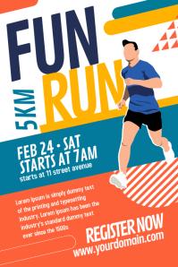 Fun Run Marathon Poster Template