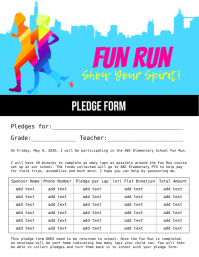 Fun Run Pledge Form