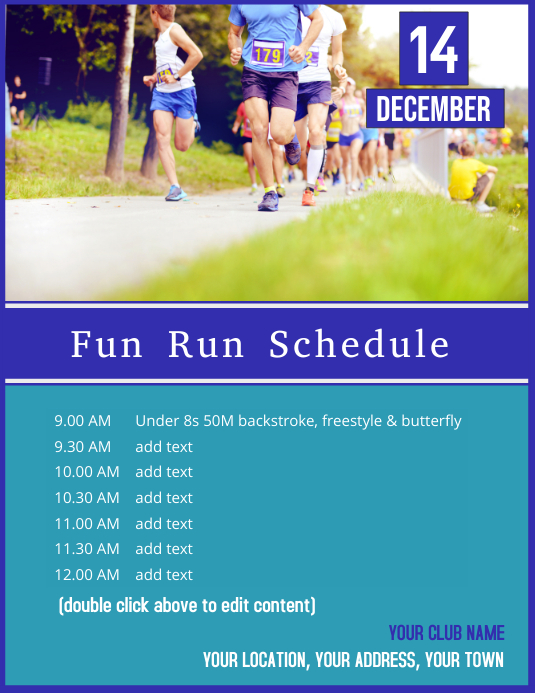 Fun Run Schedule