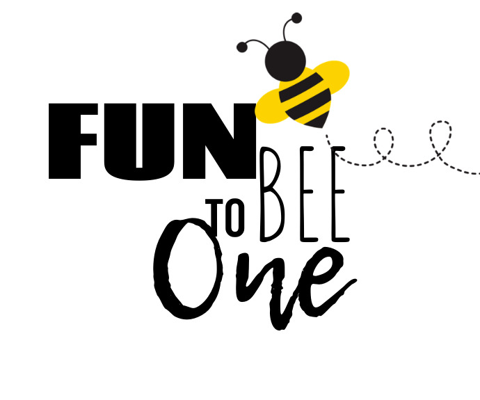 FUN TO BEE ONE Medium na Rektangle template