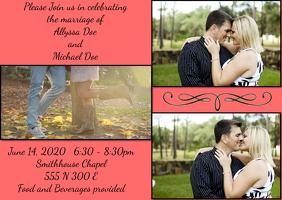 Fun Wedding announcement invitation