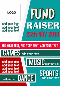 FUND, CHARITY, EVENT, PARTY TEXT POSTER FLYER