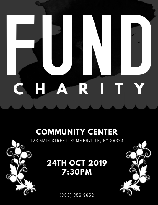 Fund Charity Event Flyer Template Postermywall