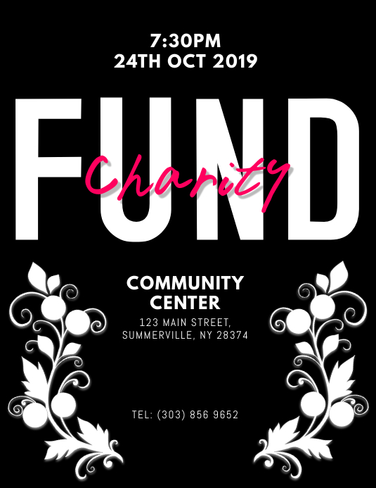 Fund Charity Event Flyer
