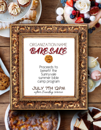 Fundraiser or Bakery Bake Sale Flyer Template Ad