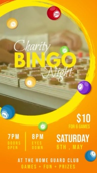 Fundraiser Bingo Event Digital Banner