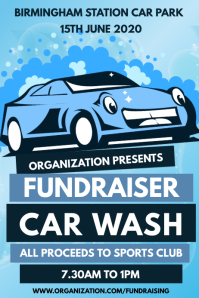 Fundraiser Car Wash <Poster Template