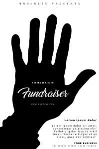 Fundraiser Event Flyer Black and White