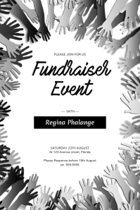 Fundraiser Event Charity Flyer Template