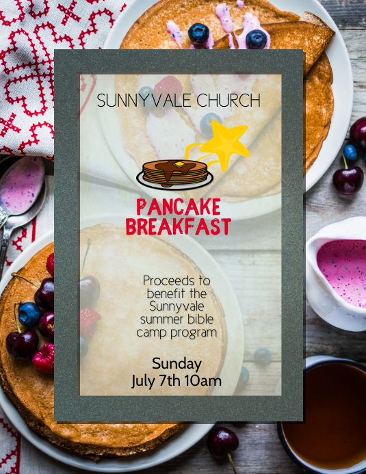 Fundraiser Pancake Breakfast Flyer Template