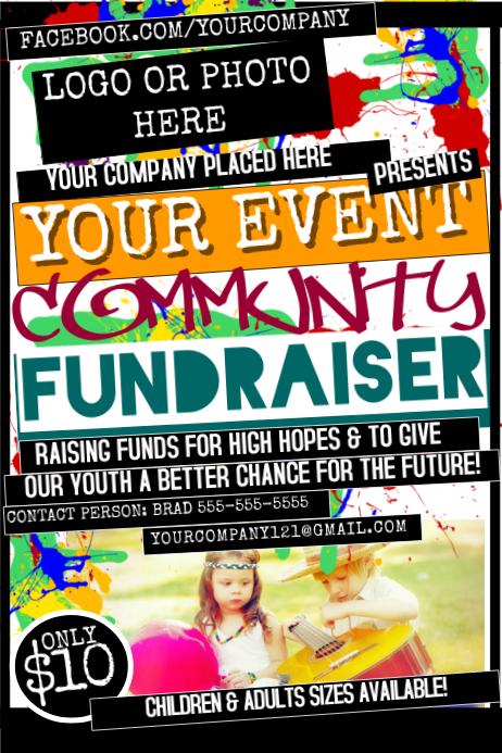 Fundraiser Poster template