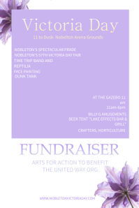 Fundraiser Victoria Day poster Templates
