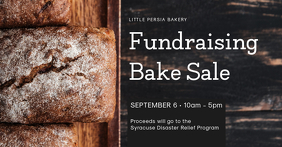 Fundraising Bake Sale Invitation Event Cover Facebook-gebeurtenisomslag template