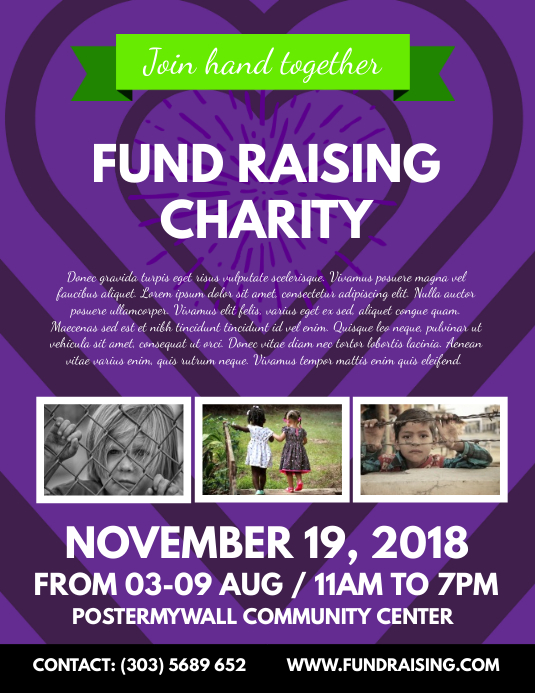 fundraising charity flyer template postermywall