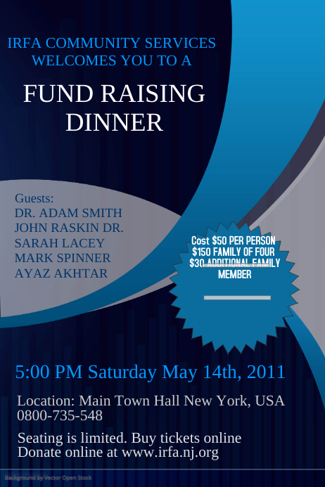 Fundraising Event Flyer Template PosterMyWall - Event brochure template
