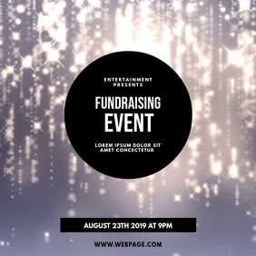 Fundraising Event Gala Video Template Quadrato (1:1)