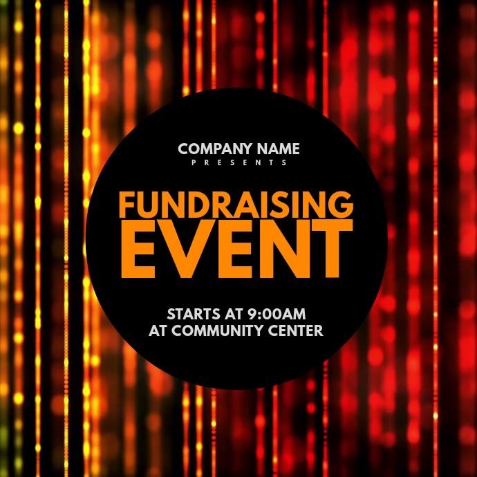 Fundraising Event Carré (1:1) template