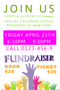 Fundraising Poster Template  Fundraising Tickets Templates