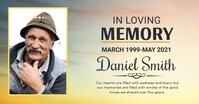 Funeral,memorial flyer Imagen Compartida en Facebook template