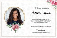 Funeral Announcement Card Label template