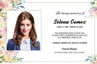 Funeral Announcement Card Digital Display (16:9) template