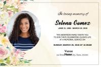 Funeral Announcement Card Etiket template