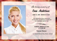 Funeral Announcement Card A6 template