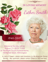Funeral Announcement Flyer (format US Letter) template